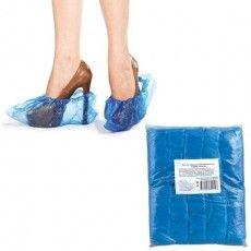 Бахилы КОМПЛЕКТ 100 штук (50 пар) в упаковке, размер 40х15 см, 30 мкм, 3,2 г, ПВД, 6019