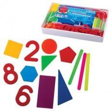 """Касса цифр и счетных материалов СТАММ """"Учись считать"""", 142 элемента, пенал, КС01"""