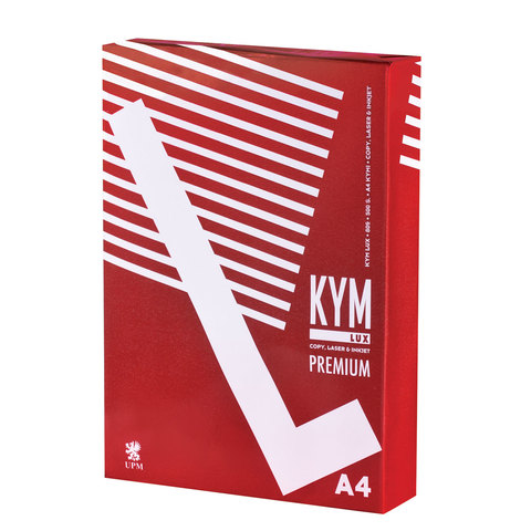 Бумага офисная А4, 80 г/м2, 500 л., марка А, KYM LUX PREMIUM, Финляндия, 170% (CIE)