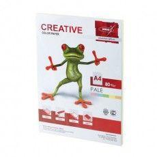 Бумага цветная CREATIVE color, А4, 80 г/м2, 100 л., (5 цветов х 20 л.), микс пастель, БПpr-100r