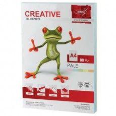 Бумага цветная CREATIVE color (Креатив) А4, 80 г/м2, 250 л., (5 цветов х 50 листов), микс пастель, БПpr-250r