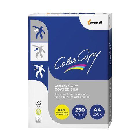 Бумага COLOR COPY SILK, мелованная, матовая, А4, 250 г/м2, 250 л., для полноцветной лазерной печати, А++, Австрия, 139% (CIE)