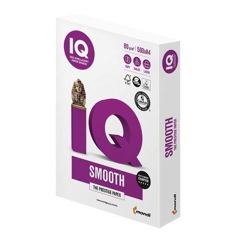 Бумага офисная А4, 80 г/м2, 500 л., марка А+, IQ SMOOTH, Австрия, 170% (CIE)