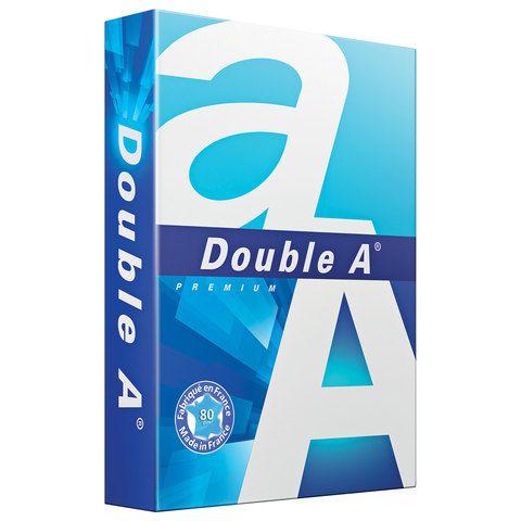 Бумага офисная А4, 80 г/м2, 500 л., марка А+, DOUBLE A, ЭВКАЛИПТ, Франция, 163% (CIE)