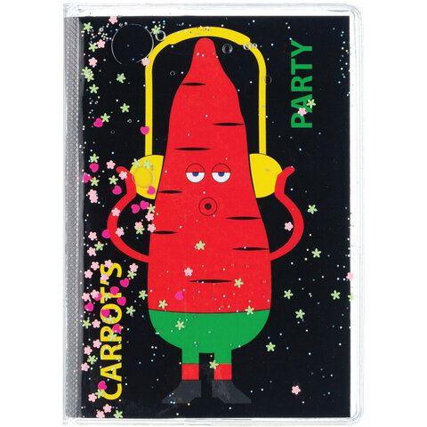 """Блокнот с гелевой обложкой МАЛЫЙ ФОРМАТ (110х145 мм) А6, 56 л., скоба, CENTRUM, """"Carrot's party"""", 84274"""