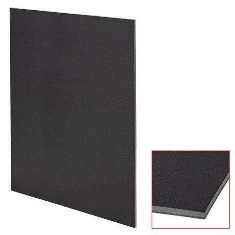 Пенокартон матовый, 50х70 см, толщина 5 мм, черный, КОМПЛЕКТ 5 листов, BRAUBERG, 112472