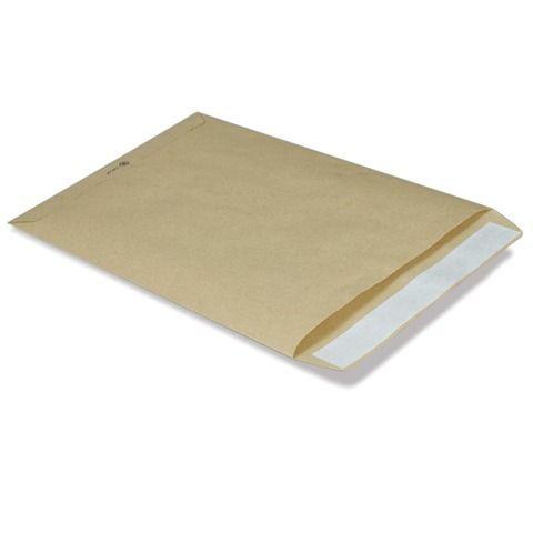 Конверт-пакет В4 плоский (250х353 мм) до 140 листов, крафт-бумага, отрывная полоса, 380090