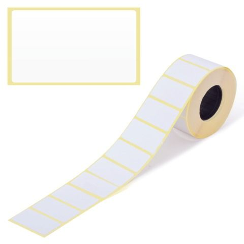 Этикетка ТермоЭко (43х25 мм), 1000 этикеток в ролике, светостойкость до 2 месяцев, 122066