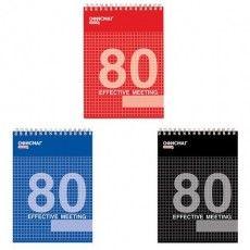 Блокнот А5 (146х205 мм), 80 л., гребень, мелованная картонная обложка, клетка, ОФИСМАГ, 3 вида, 123021