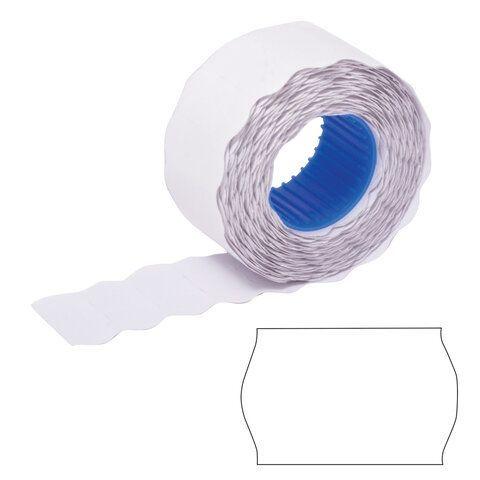 Этикет-лента 26х12 мм, волна, белая, комплект 5 рулонов по 800 шт., BRAUBERG, 123576