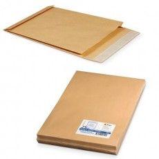 Конверт-пакеты В4 объемный (250х353х40 мм), до 300 листов, крафт-бумага, отрывная полоса, КОМПЛЕКТ 25 шт., 391157.25