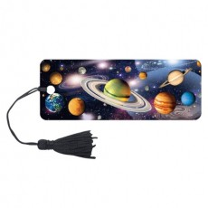 """Закладка для книг 3D, BRAUBERG, объемная, """"Вселенная"""", с декоративным шнурком-завязкой, 125757"""