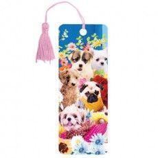 "Закладка для книг 3D, BRAUBERG, объемная, ""Собачки"", с декоративным шнурком-завязкой, 125775"