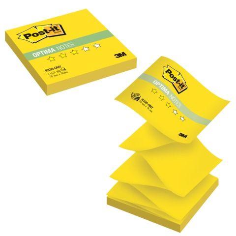 "Блок самоклеящийся (стикер) POST-IT ORIGINAL ""Лето"" (Z-блок) 76х76 мм, 100 л., желтый неон, R330-ONY"