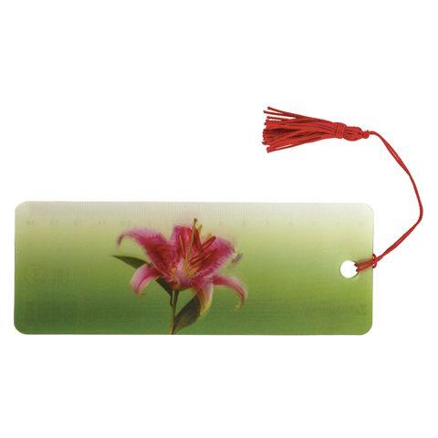 """Закладка для книг с линейкой, 3D-объемная, BRAUBERG """"Удивительный цветок"""", с декоративным шнурком, 128095"""