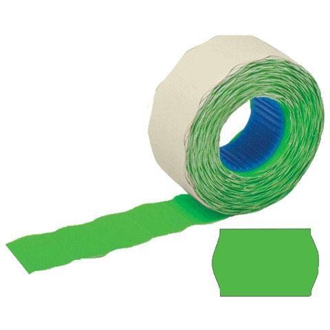Этикет-лента 26х12 мм, волна, зеленая, КОМПЛЕКТ 100 рулонов по 800 шт., STAFF, 128454