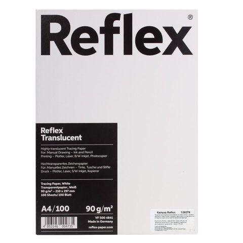 Калька REFLEX А4, 90 г/м, 100 листов, Германия, белая, R17119