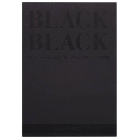"""Альбом для зарисовок А4 (210x297 мм) FABRIANO """"BlackBlack"""", черная бумага, 20 листов, 300 г/м2, 19100390"""