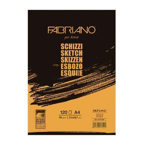 """Альбом для рисования А4 (210х297 мм) FABRIANO """"Schizzi"""", мелкое зерно, 120 листов, 90 г/м2, 57721297"""