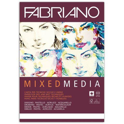 """Альбом для рисования А4 (210х297 мм) FABRIANO """"Mixed Media"""", мелкое зерно, 40 листов, 250 г/м2, 19100381"""