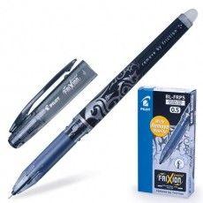 """Ручка стираемая гелевая PILOT """"Frixion Point"""", ЧЕРНАЯ, игольчатый узел 0,5 мм, линия письма 0,25 мм"""