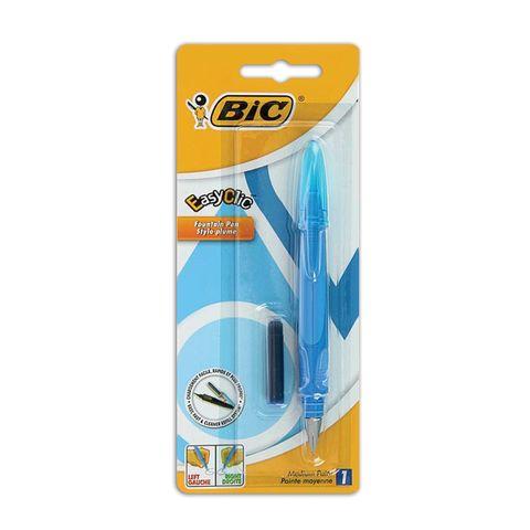 """Ручка перьевая BIC """"EasyClic"""", корпус ассорти, иридиевое перо, сменный картридж, блистер, 8479004"""