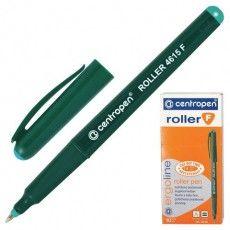 Ручка-роллер ЗЕЛЕНАЯ CENTROPEN, трехгранная, корпус зеленый, узел 0,5 мм, линия письма 0,3 мм, 4615, 3 4615 0110