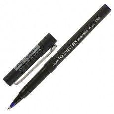 """Ручка-роллер PENTEL (Япония) """"Document Pen"""", СИНЯЯ, корпус черный, узел 0,5 мм, линия письма 0,25 мм, MR205-C"""