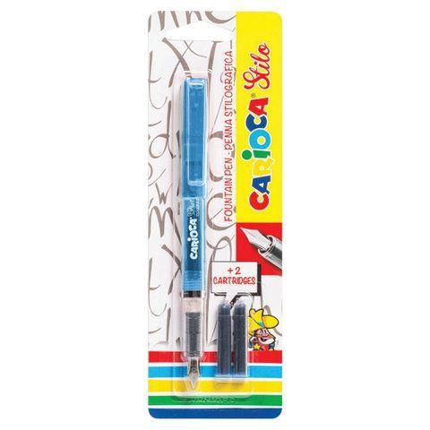 """Ручка перьевая CARIOCA """"Stilo"""", иридиевое перо, 2 сменных картриджа, корпус ассорти, Италия, 42303"""