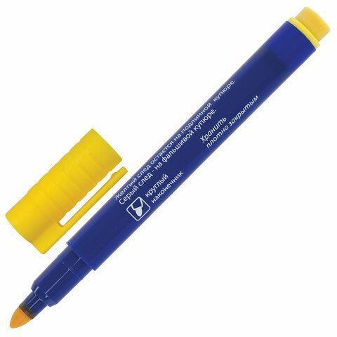 Маркер-детектор для проверки подлинности банкнот, BRAUBERG, блистер, 151245