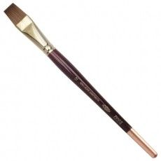 Кисть художественная KOH-I-NOOR колонок, плоская, №12, короткая ручка, блистер, 9936012010BL
