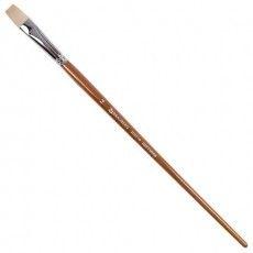 Кисть художественная профессиональная BRAUBERG ART CLASSIC, щетина, плоская, № 14, длинная ручка, 200719