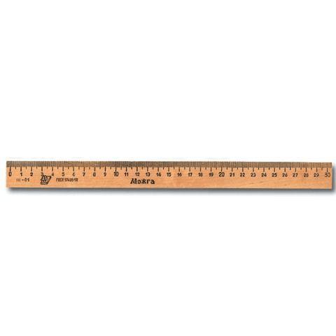Линейка деревянная 30 см, C07