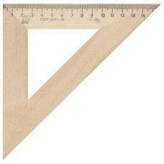 Треугольник деревянный, угол 45, 16 см, УЧД, С16