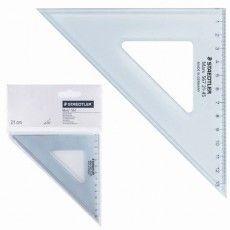 """Треугольник пластиковый, угол 45, 12 см, STAEDTLER (Германия) """"Mars"""", прозрачный, 567 21-45"""