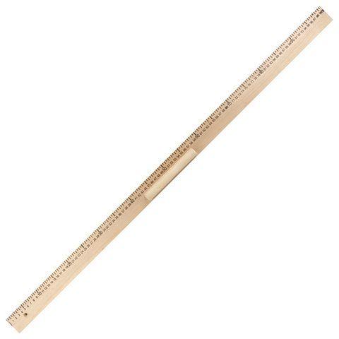 Линейка деревянная 100 см, для классной доски, с держателем, ПИФАГОР, 210671