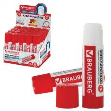 Клей-карандаш BRAUBERG, 15 г, 220870