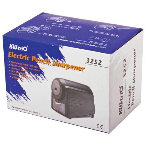 Точилка электрическая KW-trio, индикатор заточки, питание от сети 220 В, черная, 3252