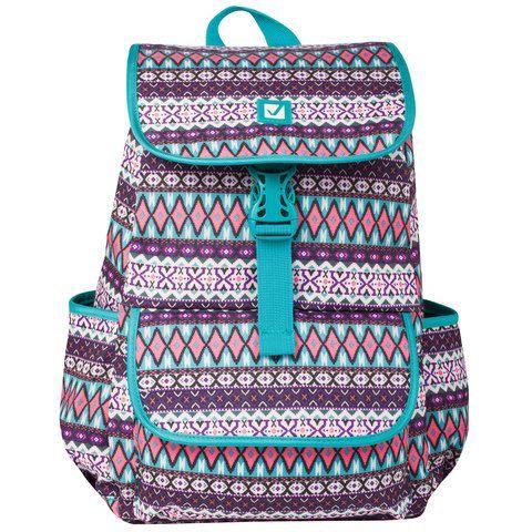 """Рюкзак BRAUBERG для старшеклассников/студентов/молодежи, узоры, """"Ромб"""", 15 литров, 34х25,5х12,5 см, 226358"""