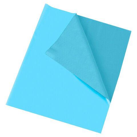 Клеёнка настольная ПИФАГОР для уроков труда, ПВХ, голубая, 69х40 см, 228116