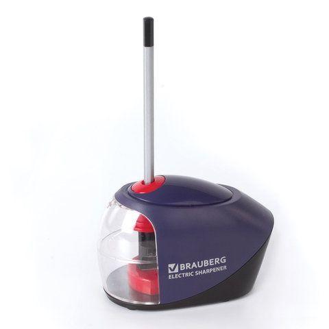"Точилка электрическая BRAUBERG ""Delta"", питание от 4 батареек АА, спиралевидное лезвие, 228421"