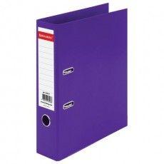 """Папка-регистратор BRAUBERG """"EXTRA"""", 75 мм, фиолетовая, двустороннее покрытие пластик, металлический уголок, 228577"""