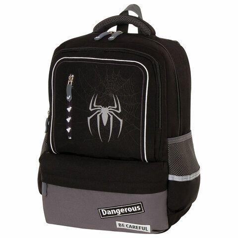"Рюкзак BRAUBERG STAR, ""Spider"", черный, 40х29х13 см, 229978"