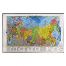 Коврик-подкладка настольный для письма (590х380 мм), с картой России, ДПС, 2129.Р