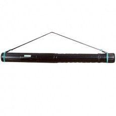 Тубус для чертежей СТАММ телескопический, диаметр 8,5 см, 63-110 см, А0, черный, на ремне, ПТ11