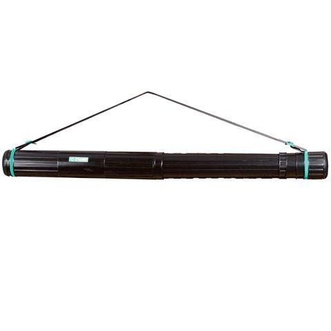 Тубус для чертежей СТАММ телескопический, диаметр 9 см, 70-110 см, А0, черный, на ремне, ПТ11
