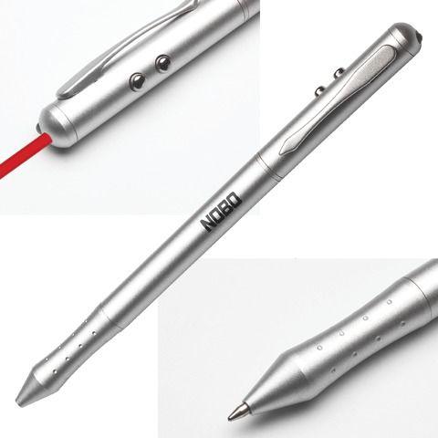 """Указка лазерная NOBO """"4 в 1"""": указка, стилус, ручка, фонарик (ACCO Brands, США), 1902262"""