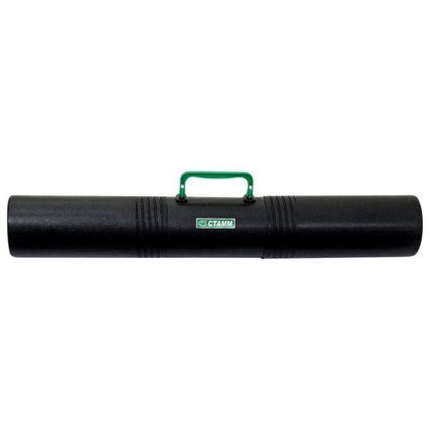 Тубус для чертежей СТАММ 3-х секционный, диаметр 10 см, длина 65 см, А1, черный, с ручкой, ПТ41