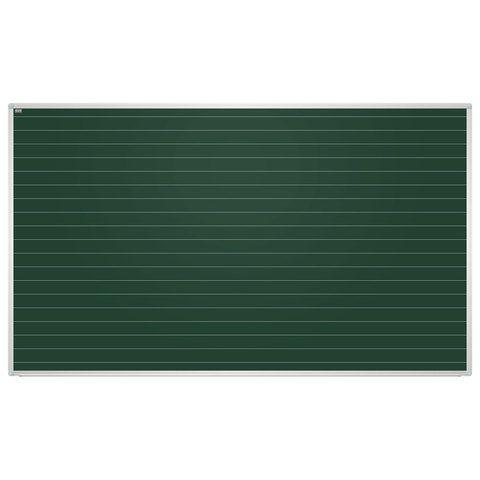 Доска для мела магнитная, 100x170 см, зеленая, в линию, алюминиевая рамка, EDUCATION