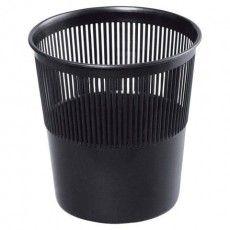 Корзина для бумаг BRAUBERG сетчатая, 9 л, черная, 237001